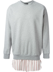 3.1 Phillip Lim Shirt Hem Sweatshirt Grey