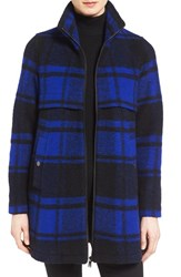Pendleton Women's 'Hillsdale' Buffalo Plaid Wool Blend Coat Royal Pld