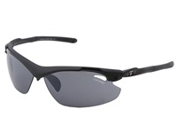 Tifosi Optics Tyrant 2.0 Interchangeable Matte Black Smoke Ac Red Clear Lens Athletic Performance Sport Sunglasses