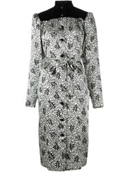 Yves Saint Laurent Vintage Printed Shirt Dress White