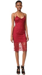 Lovers Friends Romance Me Dress Cranberry