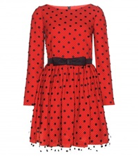 Saint Laurent Polka Dot Dress Red