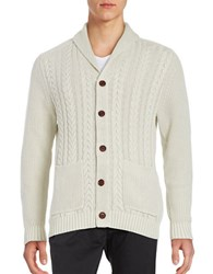 Tommy Bahama Cable Knit Cardigan French Clay