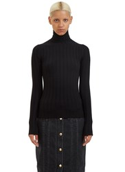 Acne Studios Corin Ribbed Roll Neck Sweater Black