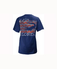 Pressbox Women's Florida Gators Blocked Chevron V Big T Shirt Royalblue