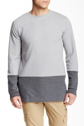 Unyforme Murray Colorblock Knit Pullover Gray