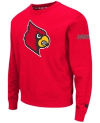 Colosseum Men's Louisville Cardinals Zone Ii Crewneck Fleece Sweatshirt Red