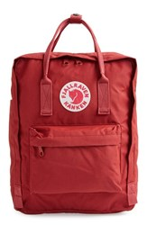 Fjall Raven Fj Llr Ven 'K Nken' Water Resistant Backpack Red Ox Red