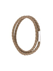 Tateossian Woven Bracelet Nude And Neutrals