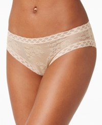Natori Bliss Sheer Lace Trim Brief 756042 Cafe