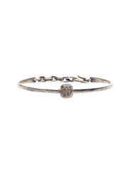 Tobias Wistisen Skinny Cross Stamp Bangle Metallic