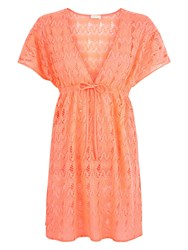 Accessorize Cuba Lace Dress Coral