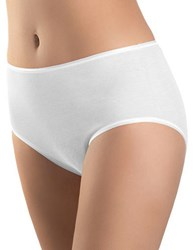 Hanro Seamless Cotton Full Briefs White