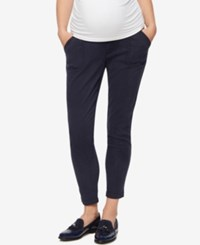A Pea In The Pod Maternity Twill Skinny Leg Pants Navy