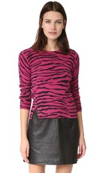 Marc Jacobs Tiger Stripe Cashmere Sweater Pink Multi