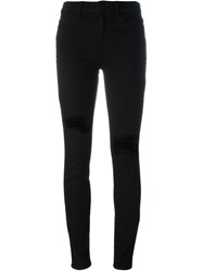 Alexander Wang Ripped Knee Skinny Jeans Black
