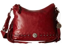 American West River Ranch Slouch Zip Top Shoulder Bag Garnet Shoulder Handbags Red