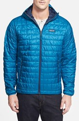 Men's Patagonia 'Nano Puff' Packable Water Resistant Hooded Jacket Underwater Blue