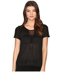 Only Dina Short Sleeve Top Black Black Women's Clothing