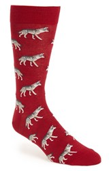 Hot Sox Men's 'Wolf' Socks Wine