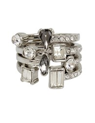 Kenneth Cole Crystal Ring Set Of 4 Metallic
