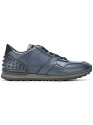 Tod's Ankle Studded Sneakers Blue