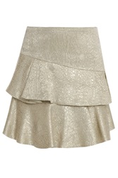 Paul And Joe Lk36 Brocade Ruffle Skirt