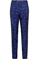 Merchant Archive Aeroplane Jacquard Tapered Pants Cobalt Blue