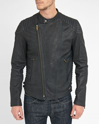 Scotch And Soda Black Leather Perfecto Jacket