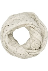 Autumn Cashmere Open Knit Cashmere And Silk Blend Snood Nude