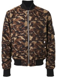 Public School Camouflage Bomber Jacket Brown
