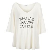 Wildfox Couture Wildfox Women's Unicorn Surfer Tahiti Tunic White