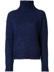 Astraet High Neck Jumper Blue