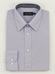 Double Two King Size Classic Plain Long Sleeve Shirt Lilac