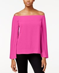 Rachel Roy Off The Shoulder Denim Top Only At Macy's Party Pink