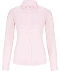 Austin Reed Pale Pink Twill And Spot Shirt