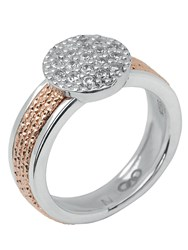 Links Of London Celeste Pave Rose Gold Ring Silver