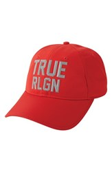True Religion Men's Brand Jeans Reflective Baseball Cap Red True Red