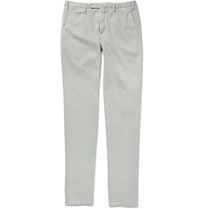 Boglioli Slim Fit Stretch Cotton Trousers White