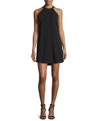 A.L.C. Liv Sleeveless Scalloped Mini Dress Black