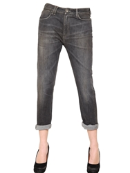 Cycle Boyfriend Washed Stretch Denim Jeans Washed Grey