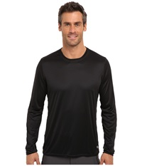Hot Chillys Peach Solid Crewneck Black Men's Long Sleeve Pullover