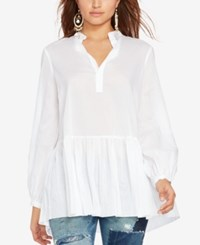 Polo Ralph Lauren Drop Waist Voile Tunic White