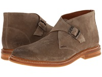 Frye William Monk Chukka Grey Oiled Suede Men's Dress Pull On Boots Gray