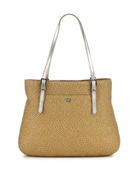 Eric Javits Square Straw Tote Bag Natural Frost