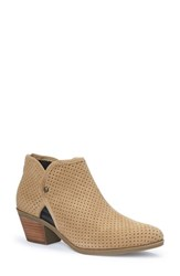 Adam Tucker By Me Too Women's 'Tate' Perforated Bootie Simba Suede