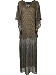 Cecilia Prado Long Knit Dress Black