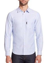 Faconnable Solid Cotton Sportshirt Sky