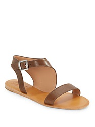Vince Camuto Signature Single Strap Leather Sandals Brown