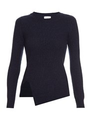 Barrie Focus And Blur Cashmere Sweater Navy